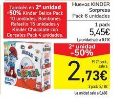 Oferta de Huevos KINDER Sorpresa  por 5,45€