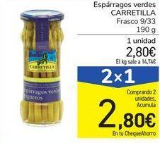 Oferta de Espárragos verdes CARRETILLA por 2,8€