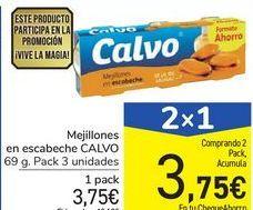 Oferta de Mejillones en escabeche CALVO por 3,75€