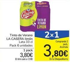 Oferta de Tinto de Verano LA CASERA limón por 3,8€