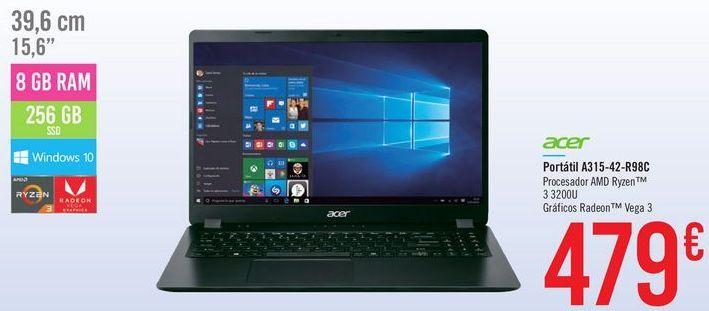 Oferta de Portátil A315-42-R98C Acer  por 479€