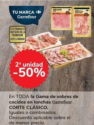 Oferta de En TODA la Gama de sobres de cocidos en lonchas Carrefour CORTE CLÁSICO por