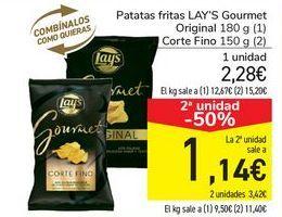 Oferta de Patatas fritas LAY'S Gourmet Original o Corte fino por 2,28€