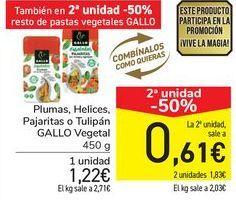 Oferta de Plumas, Helices, Pajaritas o Tulipán GALLO Vegetal  por 1,22€