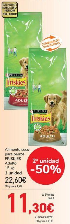Oferta de Alimento seco para perros FRISKIES Adulto  por 22,6€