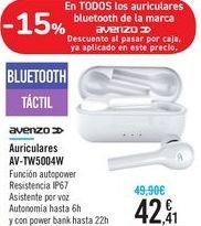 Oferta de Auriculares AV-TW5004W Avenzo  por 42,41€