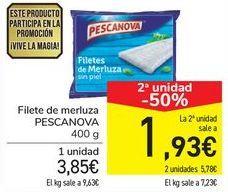 Oferta de Filete de merluza PESCANOVA  por 3,85€