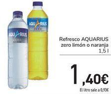 Oferta de Rfresco AQUARIUS Zero limón o naranja  por 1,4€