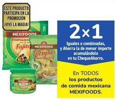 Oferta de En TODOS los productos de comida mexicana MEXIFOODS por