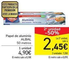 Oferta de Papel de aluminio ALBAL por 4,9€