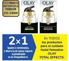 Oferta de En TODOS los productos para el cuidado facial femenino OLAY TOTAL EFFECTS por
