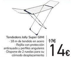 Oferta de Tendedero Jolly Super GIMI por 14€