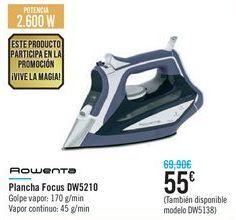 Oferta de Plancha Focus DW5210 Rowenta  por 55€
