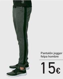 Oferta de Pantalón jogger felpa hombre  por 15€