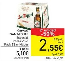 Oferta de Cerveza SAN MIGUEL Especial  por 5,1€