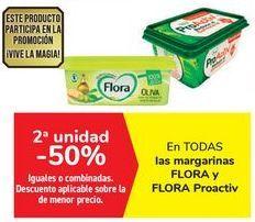 Oferta de En TODAS las margarinas FLORA Y flora Proactiv por