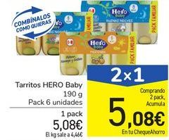 Oferta de Tarritos HERO Baby por 5,08€