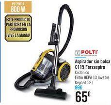 Oferta de Aspirador sin bolsa C115 Forzaspira Polti  por 65€