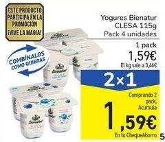 Oferta de Yogures Bienatur CLESA 115g por 1,59€
