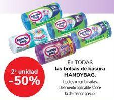 Oferta de En TODAS las bolsas de basura HANDYBAG, igaules o combinados  por