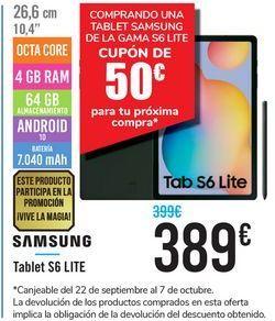 Oferta de Tablet S6 Lite SAMSUNG  por 389€