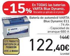 Oferta de Batería de automóvil VARTA Blue Dynamic E11 por 122,4€