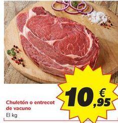 Oferta de Chuletón o entrecot de vacuno por 10,95€