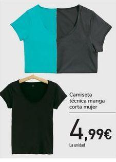 Oferta de Camiseta técnica manga corta mujer  por 4,99€