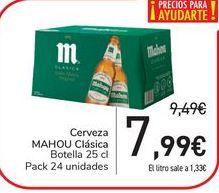 Oferta de Cerveza  MAHOU Clásica por 7,99€