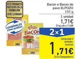 Oferta de Bacon o Bacon de pavo ELPOZO por 1,71€