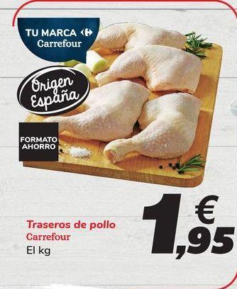 Oferta de Traseros de pollo Carrefour por 1,95€
