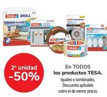 Oferta de En TODOS los productos TESA, iguales o combinados  por