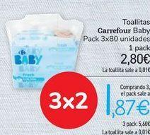 Oferta de Toallitas Carrefour Baby  por 2,8€