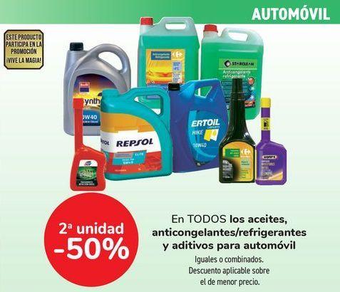 Oferta de En TODOS los aceites, anbticongelantes/refrigerantes y aditivos para automóvil  por