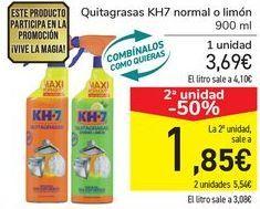 Oferta de Quitagras KH7 normal o limón  por 3,69€
