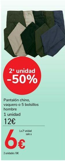 Oferta de Pantalón chino, vaquero o 5 bolsillos hombre por 12€