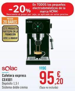 Oferta de Cafetera express CE4501 Solac por 95,2€