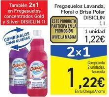 Oferta de Fregasuelos Lavanda, Floral o Brisa Polar DISICLIN por 1,22€