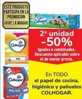 Oferta de En TODO el papel de cocina, higiénico y pañuelos COLHOGAR por