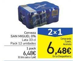 Oferta de Cerveza SAN MIGUEL 0,0% por 6,48€
