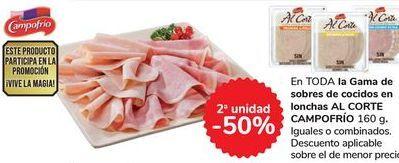 Oferta de En TODA la Gama de sobres de cocidos en lonchas AL CORTE CAMPOFRÍO por