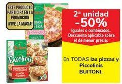 Oferta de En TODAS las pizzas y Piccolinis BUITONI por