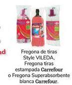 Oferta de Fregona de tiras Syle VILEDA, Fregona tiras estampada Carrefour o Fregona Superabsorbente blanca Carrefour por 1€