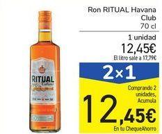 Oferta de Ron RITUAL Havana Club por 12,45€