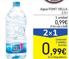 Oferta de Agua FONT VELLA por 0,99€