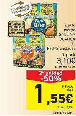 Oferta de Caldo casero GALLINA BLANCA  por 3,1€