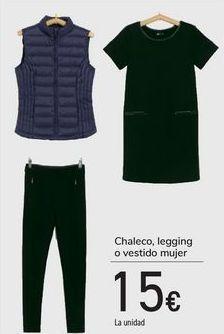 Oferta de Chaleco, leggin o vestido mujer  por 15€