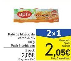 Oferta de Paté de hígado de cerdo APIS por 2,05€