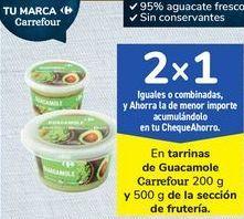 Oferta de En tarrinas de Guacamole Carrefour 200 g y 500 g de la sección de frutería por