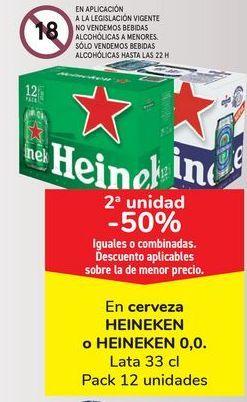 Oferta de En cerveza HEINEKEN o HEINEKEN 0,0  por